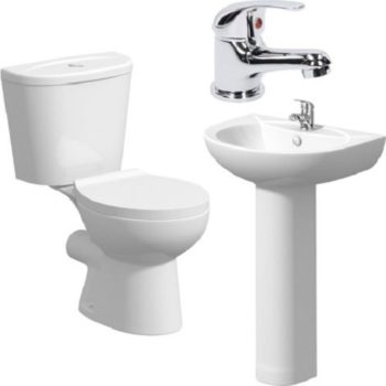 Water Closet & Wash Hand Basin + Tap – Twyford England wc