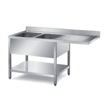 Double Kitchen Sink With Single Tray