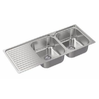 Zitalo Double Bowl Sink With Single Tray