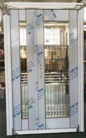 4ft External Full Glass Entrance Door