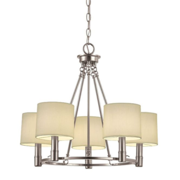 5 Glass Chandelier With Pendent