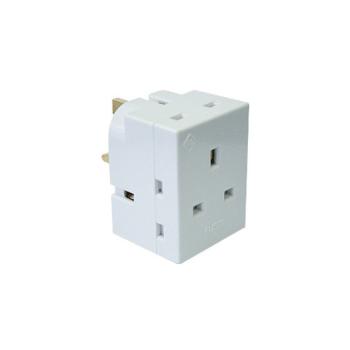 ABB 3 Way Socket Multi Plug Adapter
