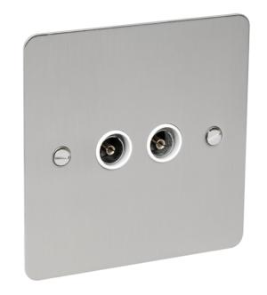 BG Nexus Flat Plate Satin Chrome TV-FM
