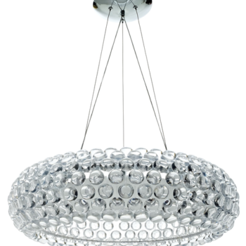 Ceiling Mount Crystal Chandelier With Pendent