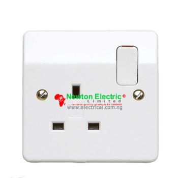 MK Electric Logic Plus 13Amp Single Socket K2757WHI